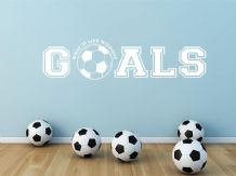 """What is life without goals"" Wall Art Sticker, Modern Decal, Self Adhesive, Deco"